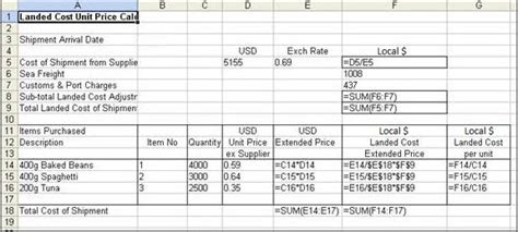 landed costs  imported inventory support notes myob