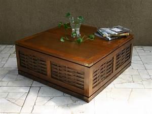 Table Basse Coffre Bar : table basse coffre kerala acajou aspect bois naturel ~ Teatrodelosmanantiales.com Idées de Décoration
