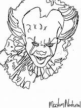 Pennywise Clown Drawing Template Coloring Drawings Stephen Sketch Getdrawings sketch template