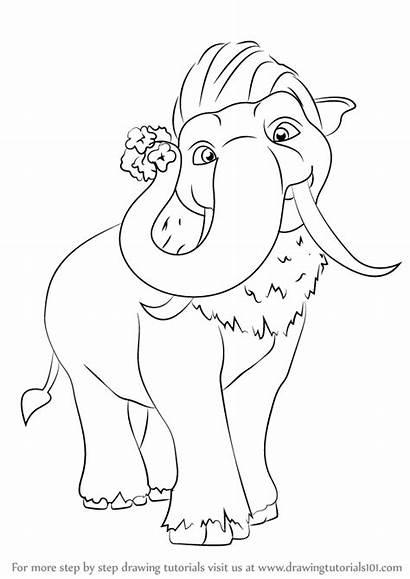 Ice Age Peaches Draw Drawing Step Cartoon