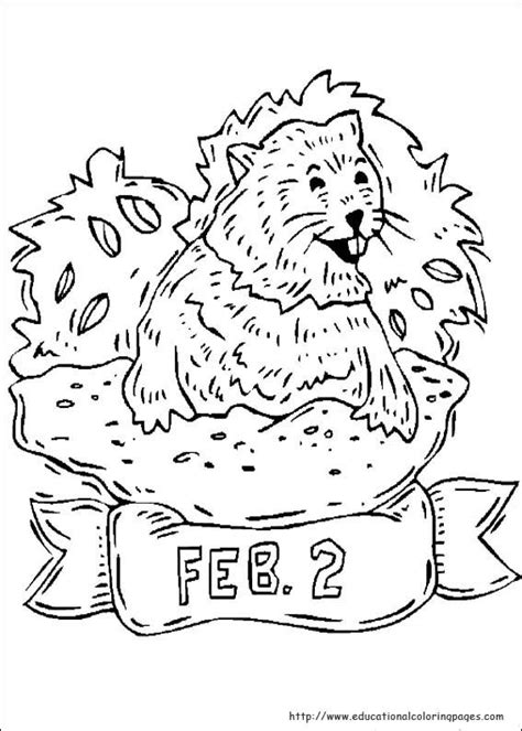 groundhog day coloring pages educational fun kids coloring pages  preschool skills worksheets