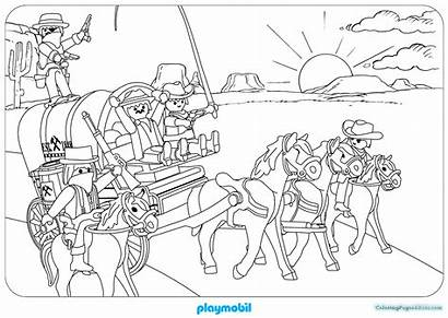 Playmobil Pages Coloring Colouring Western Club Max