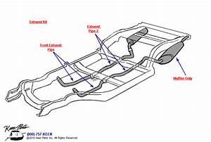 1972 Corvette Exhaust Kit  U0026 Mufflers Parts