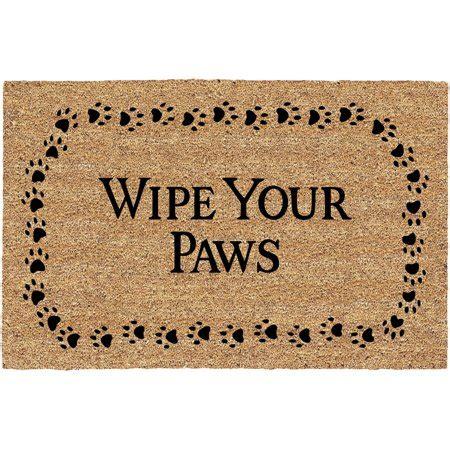 Wipe Your Paws Doormat by Ac 19 5 Quot X 29 5 Quot Wipe Your Paws Flocked Coir Doormat