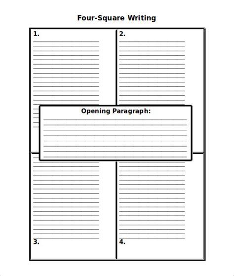 four square writing template 6 writing templates word pdf free premium templates