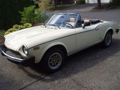 1980 Fiat Spider For Sale by 1980 Fiat 124 Pininfarina Spider 2000 For Sale In