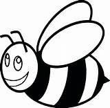 Bee Bumble Cartoon Printable Coloring Clipartmag sketch template