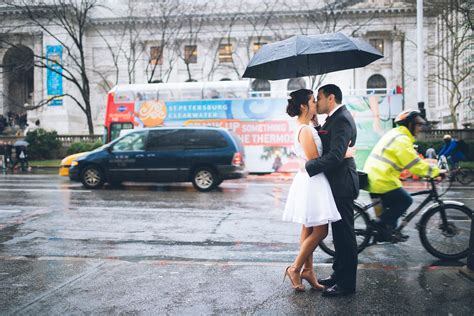 york rain wedding nyc city hall elopement photographer