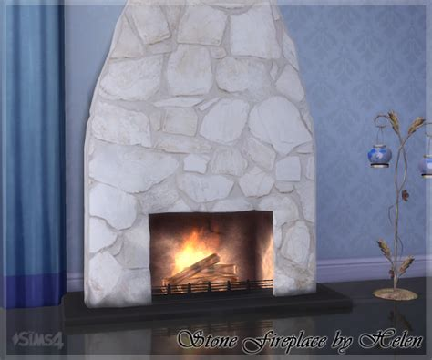 helen sims ts stone fireplace sims  updates sims
