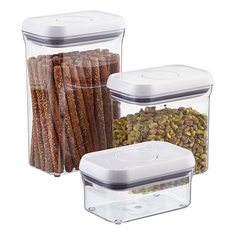 oxo cuisine oxo grips rectangular pop canisters the container store