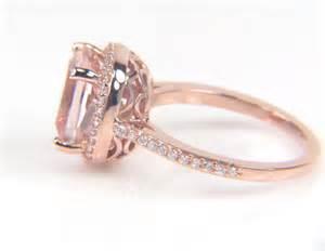 gold morganite engagement rings gold morganite rings engagement ring unique engagement ring