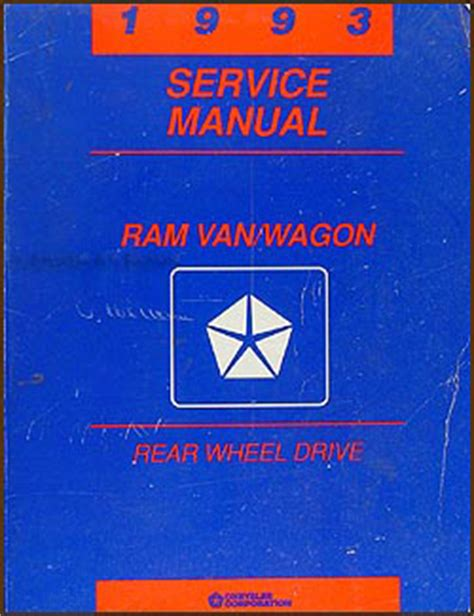 auto repair manual online 1992 dodge ram wagon b250 engine control 1993 dodge ram van wagon repair shop manual original b100 b350