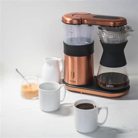We get it—you want pour over coffee in the comfort of your kitchen. 8 Cup Pour Over Coffee Maker, Satin Copper - BRIM