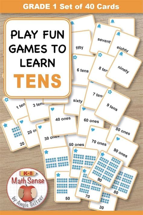 games  understanding tens kids  match groups