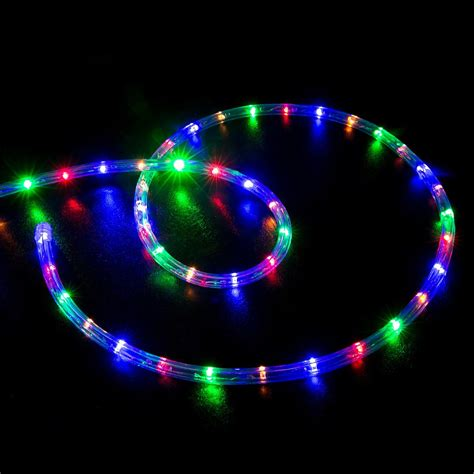 10' Multicolor (rgb) Led Rope Light  Home Outdoor