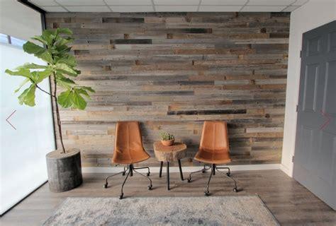 diy reclaimed barn wood wall  peel  stick  apply