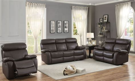 Reclining Living Room Set by Pendu Brown Reclining Living Room Set From