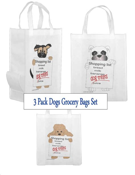pack dogs reusable grocery bags personalized