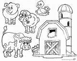 Coloring Farm Barn Animals Printable Bettercoloring sketch template