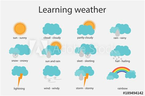 learning weather  children fun education game  kids
