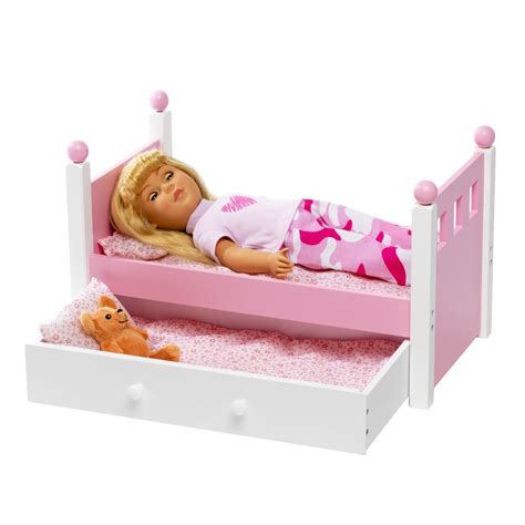 american girl doll single bed trundle fits cm