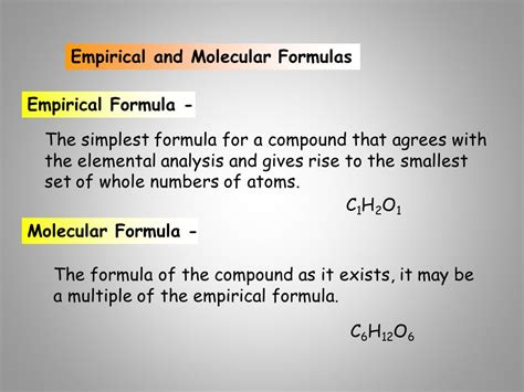 Mathematical Relationships With Chemical Formulas  Ppt Download
