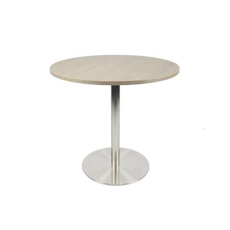 pied inox cuisine table de cuisine ronde en mélaminé avec pied