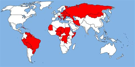 Map Communist Countries During Cold War
