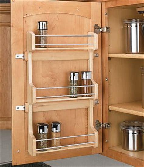rev  shelf sr  wood wall  door mount spice rack
