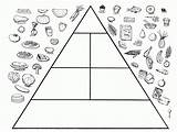 Pyramid Coloring Healthy Pages Preschoolers Printable Worksheets Living Kindergarten Draw Sheets Making Smart Pyramids Popular Adult Start Meals sketch template