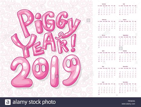 Chinese New Year 2019 Pig Stock Vector Images
