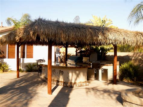 piece bbq island  solid roof palapa extreme