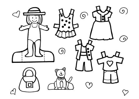 Summer Clothes Coloring Pages For Kids Images & Pictures