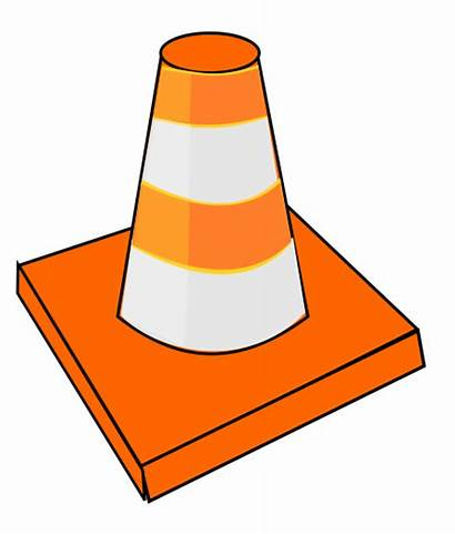 Safety Clip Clipart Cone Traffic Cartoon Construction