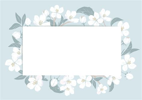 cherry blossom card template  text floral frame