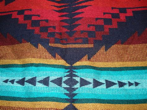 vintage native american inspired blanket tribal throw mexican