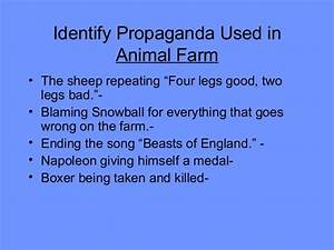 Animal farm propaganda