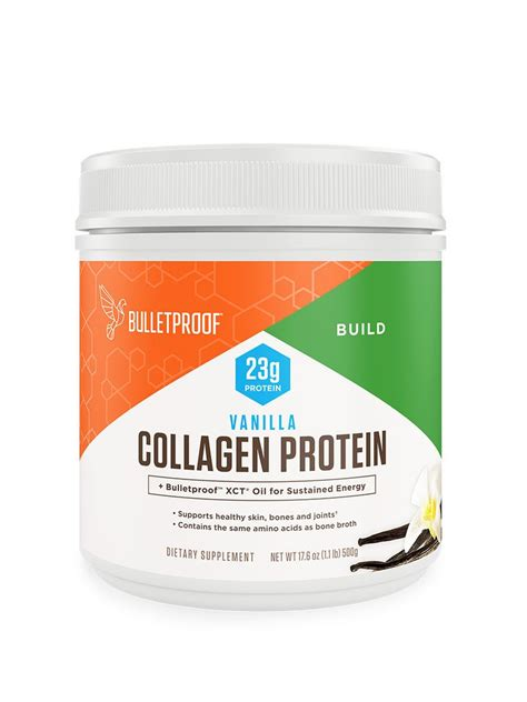 Bulletproof Vanilla Collagen Protein Powder - Net Wt. 17.6 oz.
