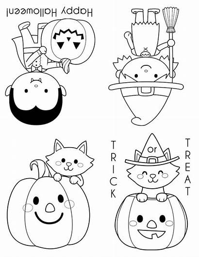 Halloween Coloring Pages Books Printables Printable Mini