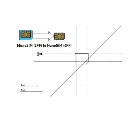 images  micro  nano sim templatepdf giedaycom
