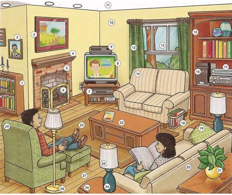 Living Room Vocabulary With Pictures by Living Room Vocabulary Lesson Pdf Esl House