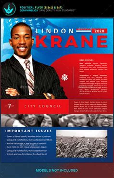 election flyer template microsoft word  political
