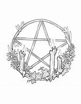 Pentagram Sabbat Pentacle Witch Wicca Sabbats Witchy Yule Efeu Pagan Witches sketch template