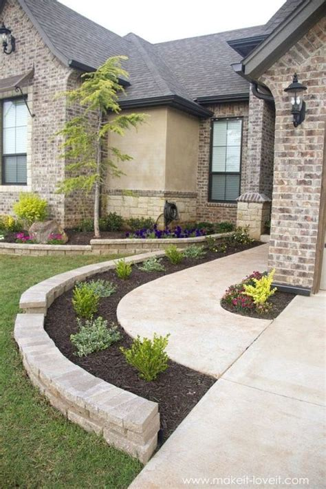 Home Design Ideas Front by 47 Cheap Landscaping Ideas For Front Yard Landscape