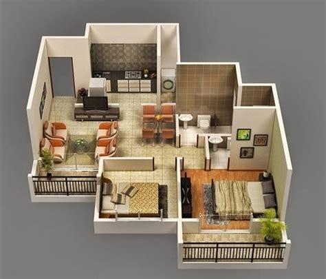 denah interior rumah type