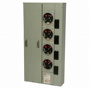 Eaton 125 Amp 4-socket Ring Meter Socket-1mp4124r