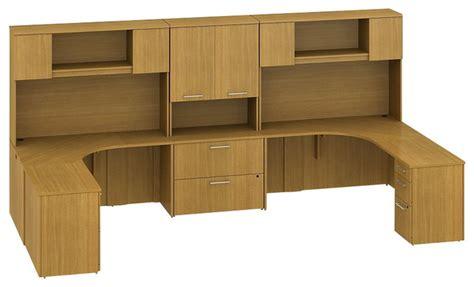 2 person corner desk bush 300 series 13 39 2 person corner workstation in modern