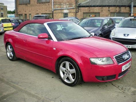 convertible audi red used audi a4 2004 petrol 1 8t sport 2dr multitronic