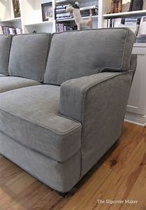 slipcover made for a contemporary harding sofa using With gray sectional sofa pottery barn