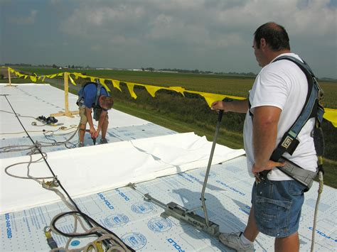Roof Harness & Commercial-roofing-safety-harness-line-2 Etfe Roof Cost Of Repair Slate Composite Tiles How To Install Metal On Shed Best Roofing Asphalt Shingles Colors Grip Screws